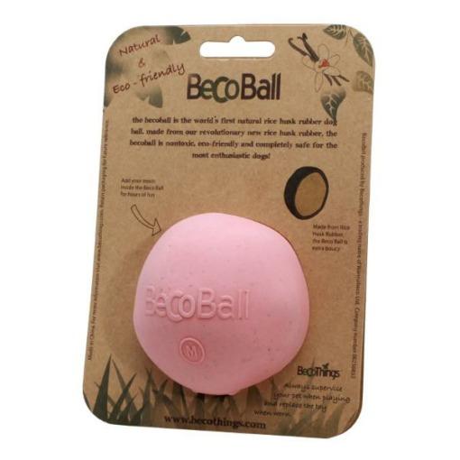 Pelota de goma natural Beco Ball Rosa