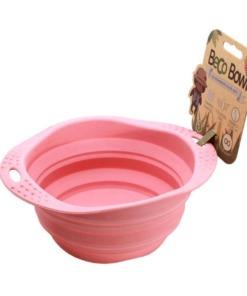 Comedero de viaje plegable Beco Bowl Rosa