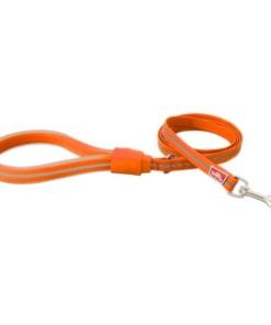Correa para perros Wigzi con asa de gel Naranja
