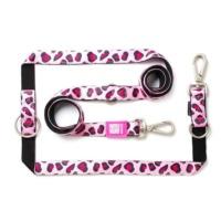 Max & Molly correa multiposicion para perros Leopard Pink
