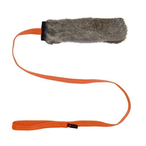 Mordedor de piel de conejo con sonido Tug e Nuff