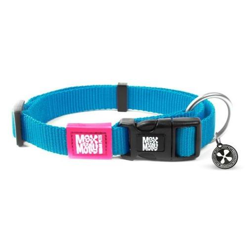 Collar para perros Max & Molly Pure Line Celeste