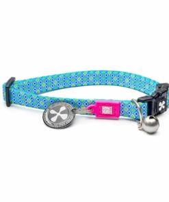 collar gato retro blue