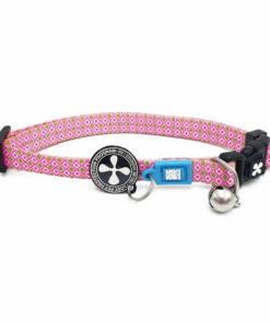 collar gato retro pink